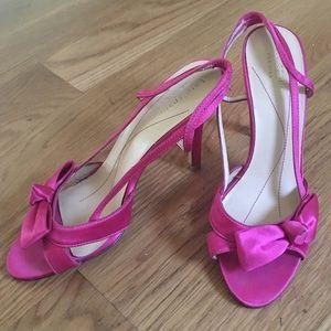 Kate Spade Pink Satin Heels